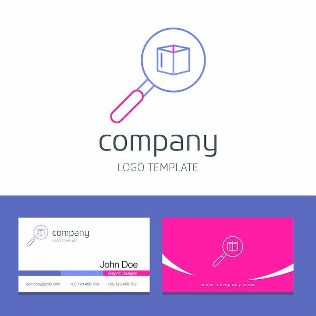 矢印の会社ロゴベクトルと名刺デザイン 無料ベクター
