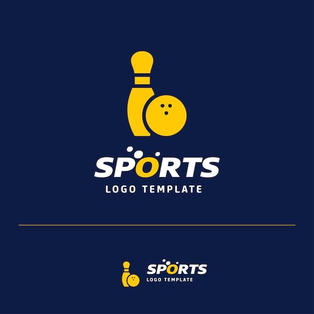 スポーツロゴ付き名刺デザイン 無料ベクター