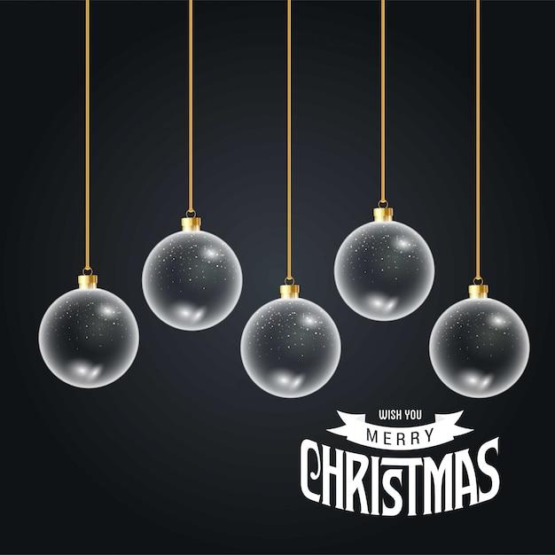 クリスマスカードエレガントなデザイン 無料ベクター