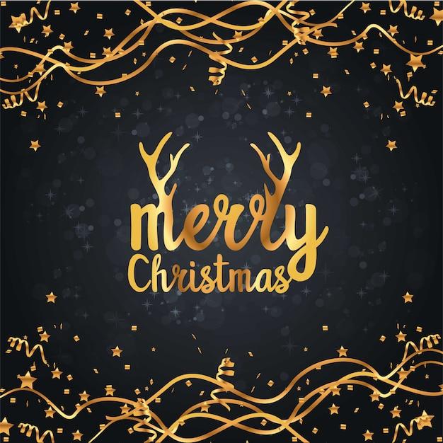 Дизайн рождественской открытки Бесплатные векторы