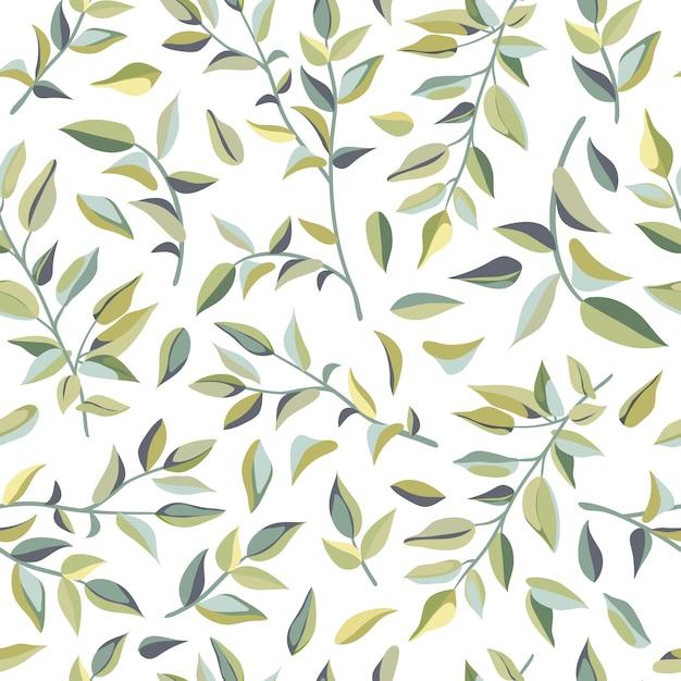 リアナの葉のシームレスなパターン。 Premiumベクター