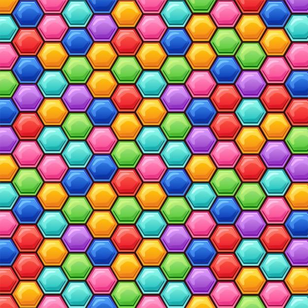 六角形の背景。 無料ベクター