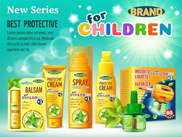 子供のための虫からの保護施設。 Premiumベクター