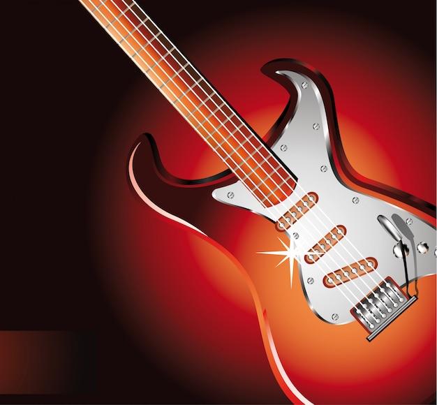 赤のエレクトリックギター Premiumベクター