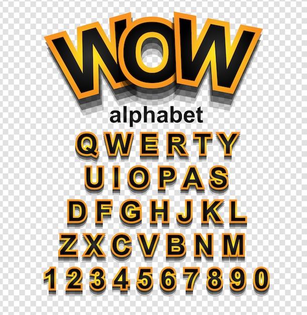 文字と数字の黄金効果アルファベットフォント Premiumベクター