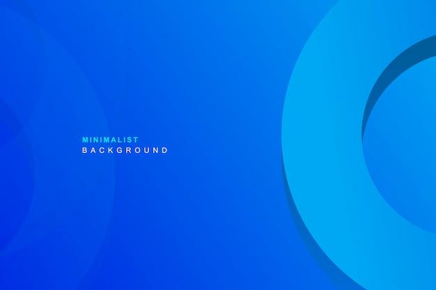 シンプルな青色の背景 Premiumベクター