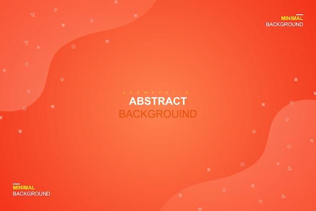 Абстрактная жидкость оранжевого цвета и геометрический фон Premium векторы