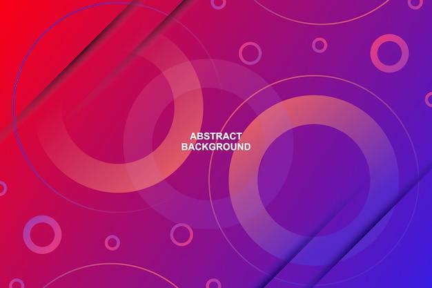 Абстрактный современный круг формы градиента цвета фона Premium векторы