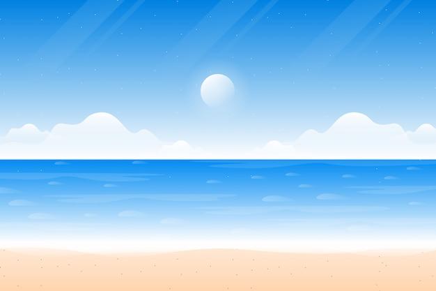 Декорации голубого неба на пляже и море Premium векторы