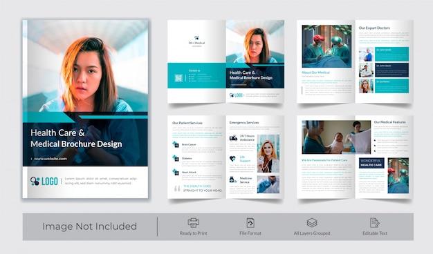 Здравоохранение и медицинский шаблон брошюры Premium векторы