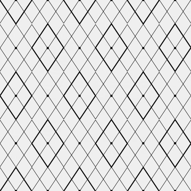 菱形で作られた単色パターン 無料ベクター