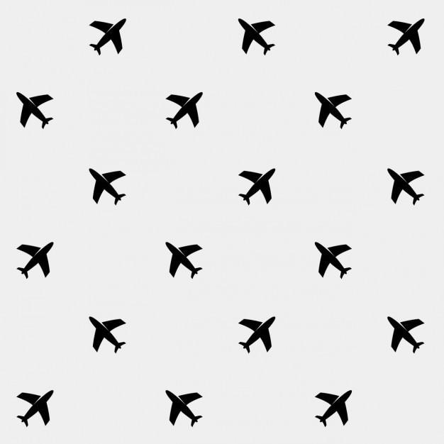飛行機のパターンの背景 無料ベクター