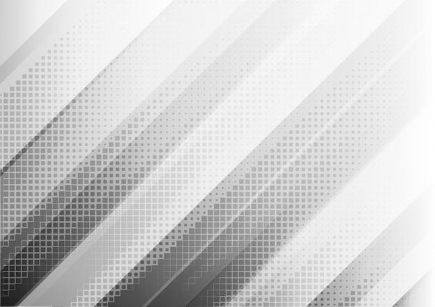 Абстрактный геометрический белый и серый цвет фона. Premium векторы