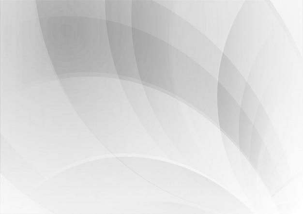 Абстрактная волна геометрический белый и серый цвет фона Premium векторы