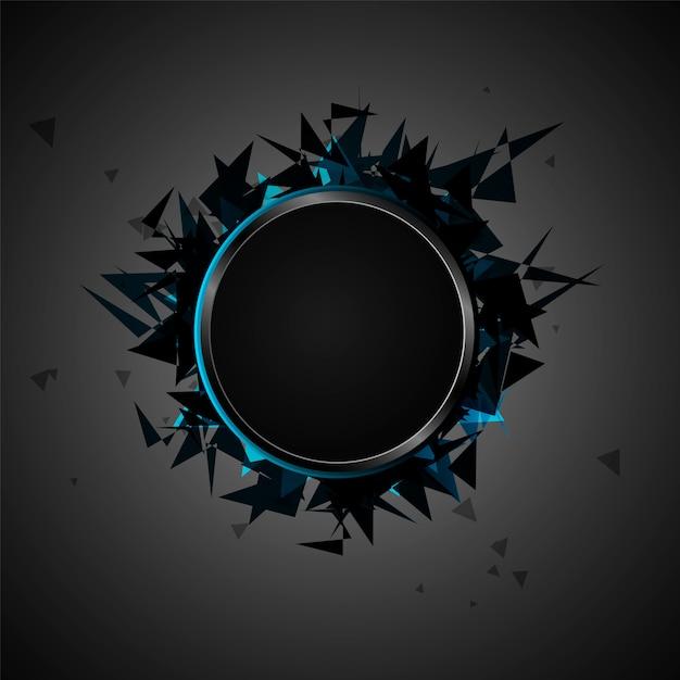 Абстрактный взрыв черного стекла Premium векторы