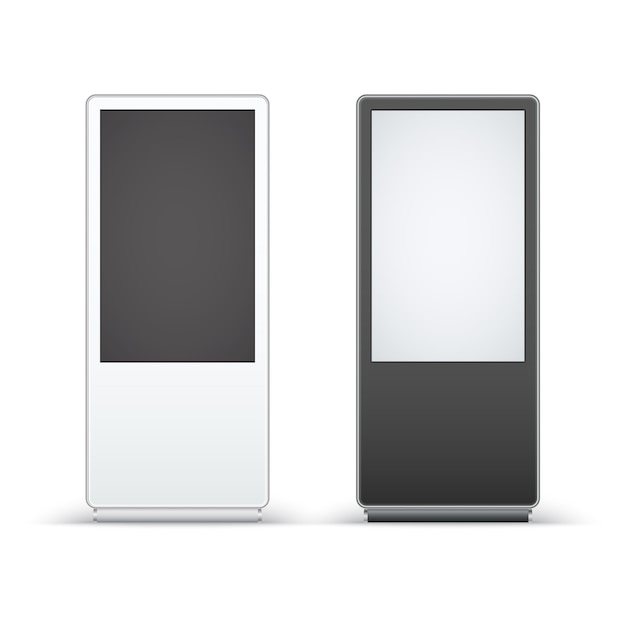デジタルサイネージは、白い背景で隔離。 Premiumベクター