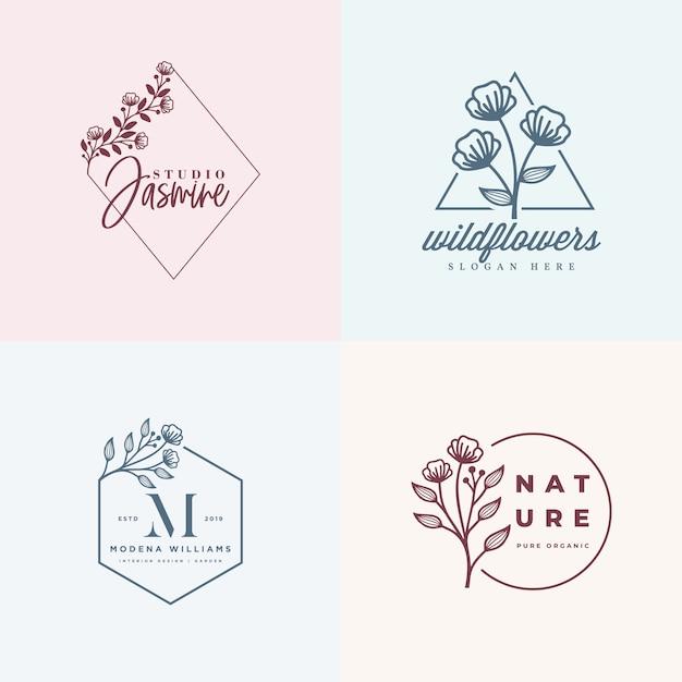 Шаблон коллекции женского логотипа Premium векторы