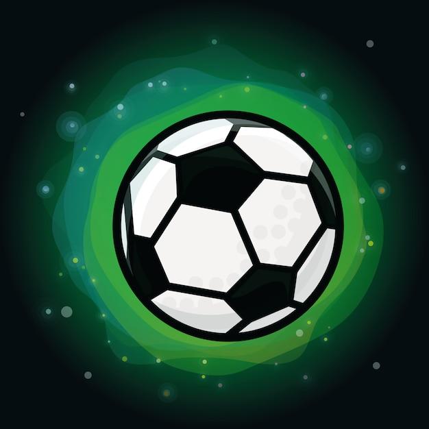 緑色の背景でベクトルサッカーボール Premiumベクター