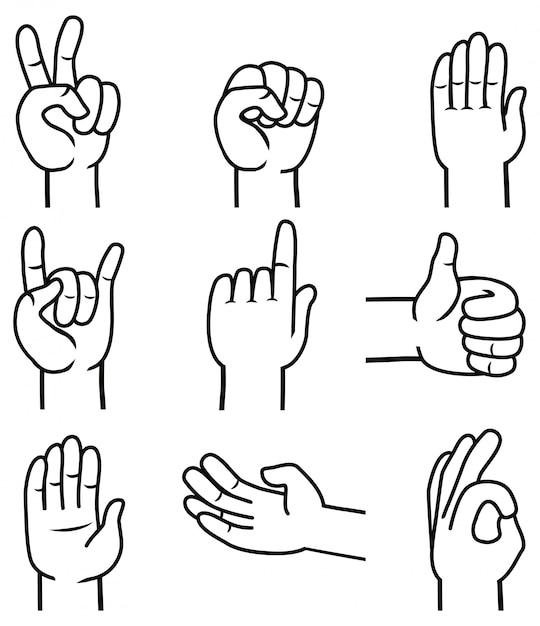 жесты знаки картинки