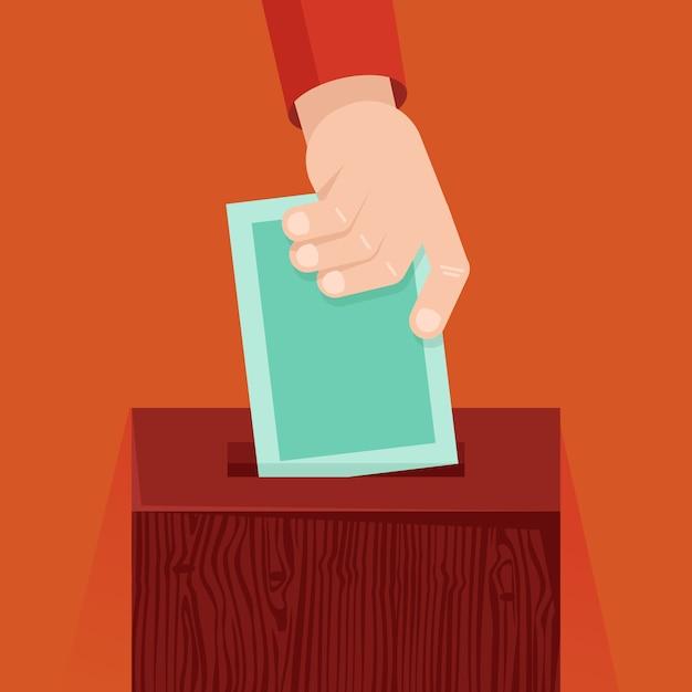 フラットスタイルのベクトル投票の概念 Premiumベクター
