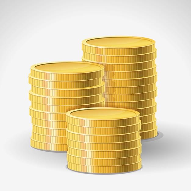 Золотые монеты Premium векторы