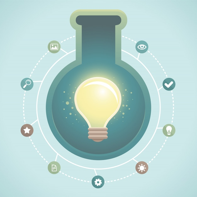 ベクトルの創造的なアイデアのインフォグラフィック Premiumベクター