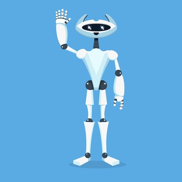 ロボットアシスタントキャラクター Premiumベクター