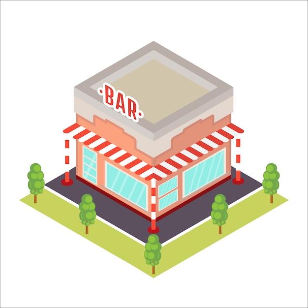 Изометрические ресторан значок. Premium векторы