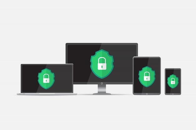 ハッカーに対する保護 Premiumベクター