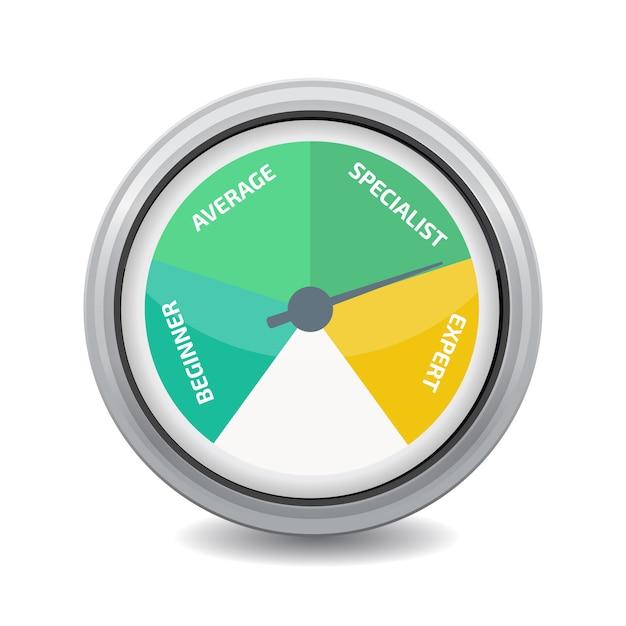 スキルレベルのベクトル Premiumベクター