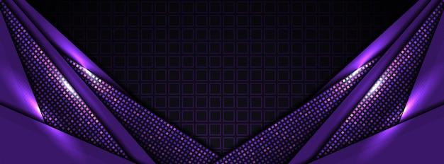 モダンなハイテク紫の抽象的な背景 Premiumベクター