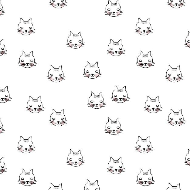 картинка много котиков черно белая магии