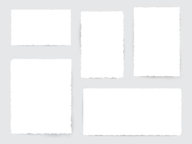 空白の白い破れた紙片 Premiumベクター