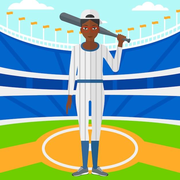 野球選手のバット Premiumベクター