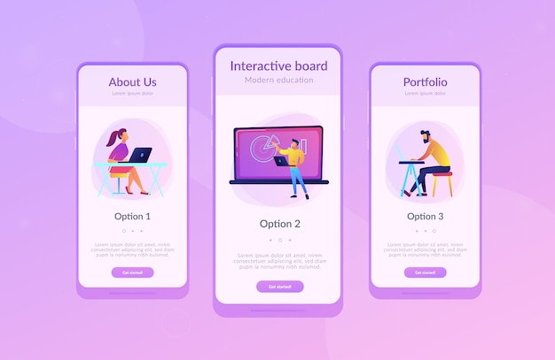 Шаблон интерфейса приложения цифровой аудитории. Premium векторы