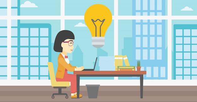 成功するビジネスアイデアのベクターイラストです。 Premiumベクター