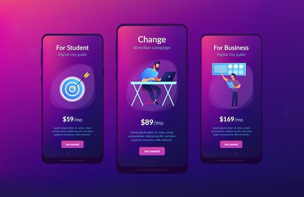 ビジネスディレクションアプリインターフェーステンプレート Premiumベクター