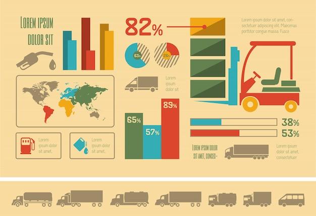 Транспорт инфографики шаблон. Premium векторы