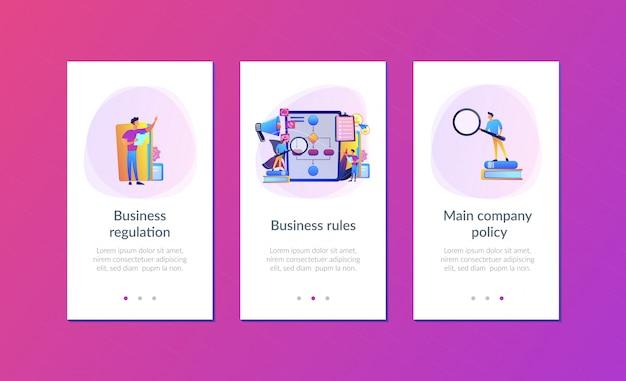 Шаблон интерфейса приложения бизнес-правил Premium векторы