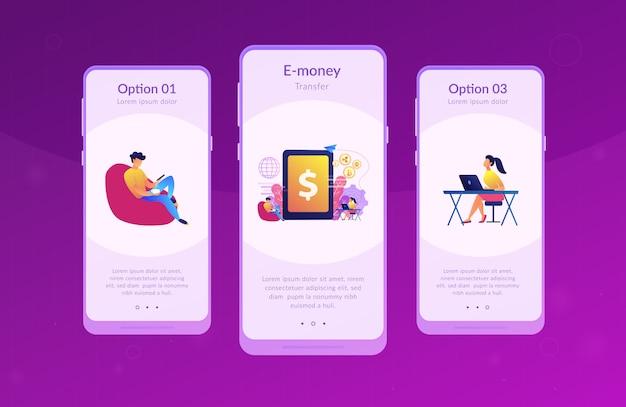 デジタル通貨アプリのインターフェーステンプレート Premiumベクター