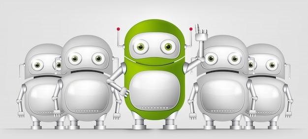 グリーンロボット Premiumベクター