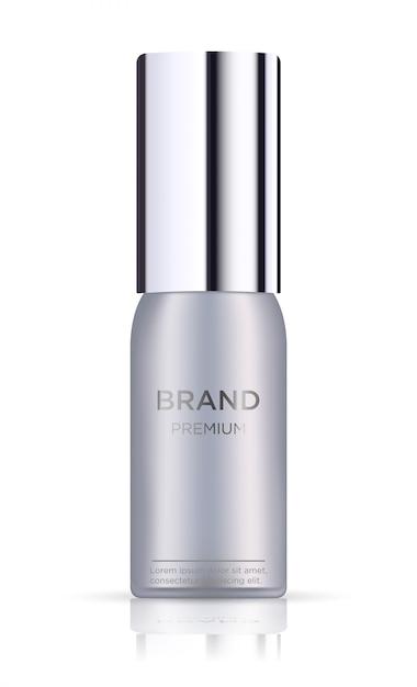 白で隔離される空白のチューブ化粧品パッケージ Premiumベクター