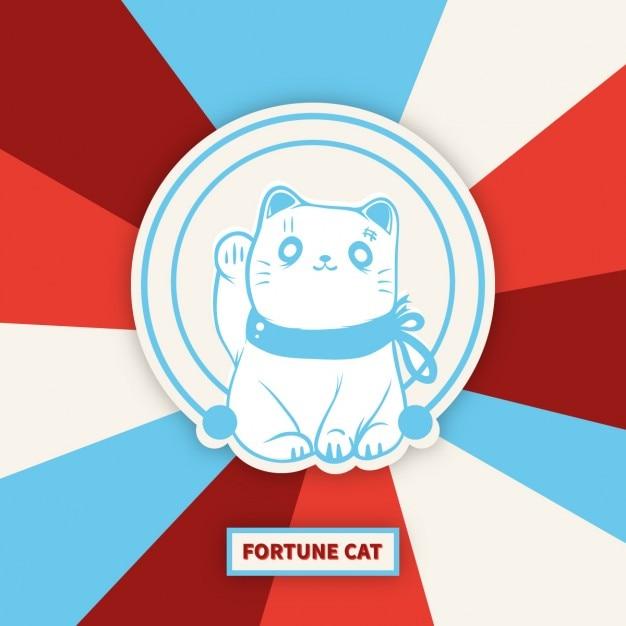 招き猫幸運の猫 無料ベクター
