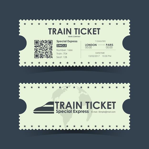 Иллюстрация билета на поезд Premium векторы