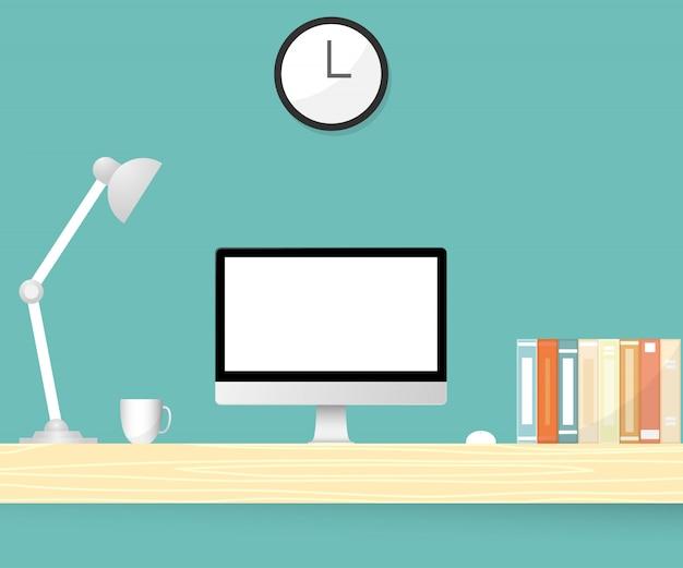 Стол офисный. иллюстрация Premium векторы