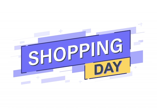ショッピング日バナー Premiumベクター