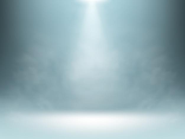 灰色のグラデーションの背景、スポットライトの照明 無料ベクター
