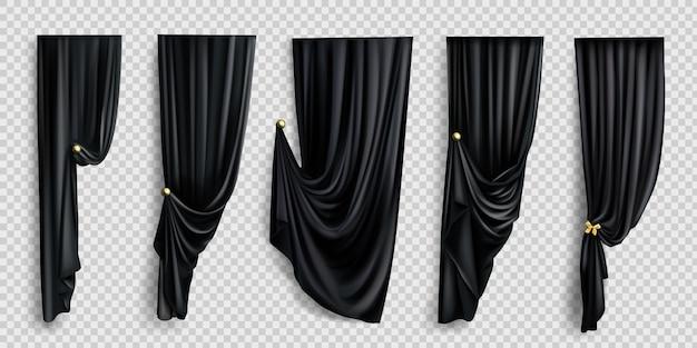 Черные шторы Бесплатные векторы