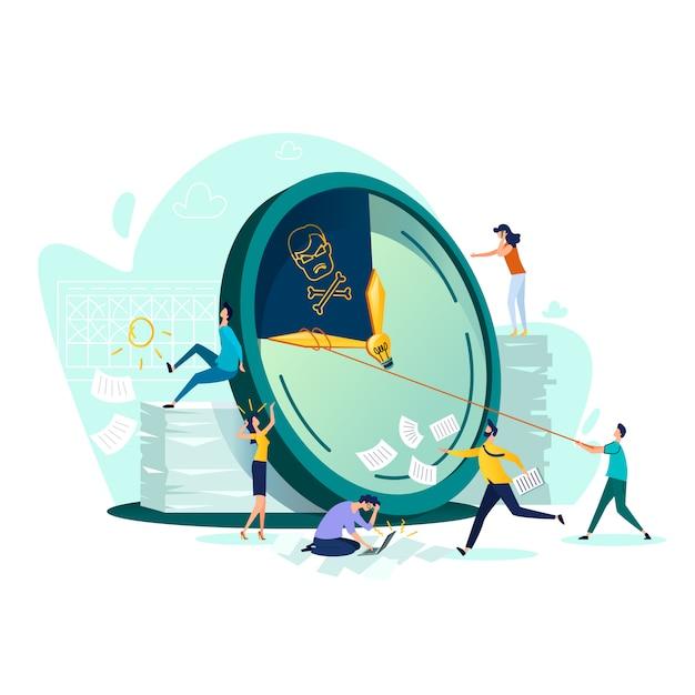 Срок, время управления бизнес концепции вектор Бесплатные векторы