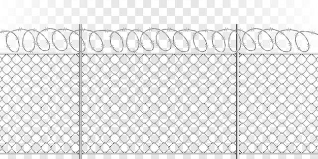 Металлическая сетка с колючей проволокой Бесплатные векторы